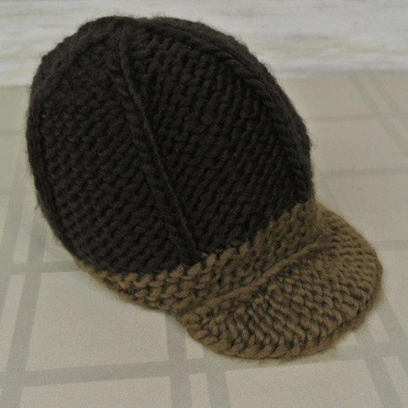 a28e8fefc44  36 NEW NWT! Fossil Espresso Brown Knit Hat Winter